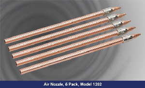 1202 High Thrust Nozzle mounted on 1/4 Copper Tube Dimensions